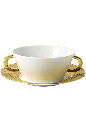 Мужская пиала для супа с блюдцем ecume or BERNARDAUD золотого цвета, арт. 0739/77   Фото 1