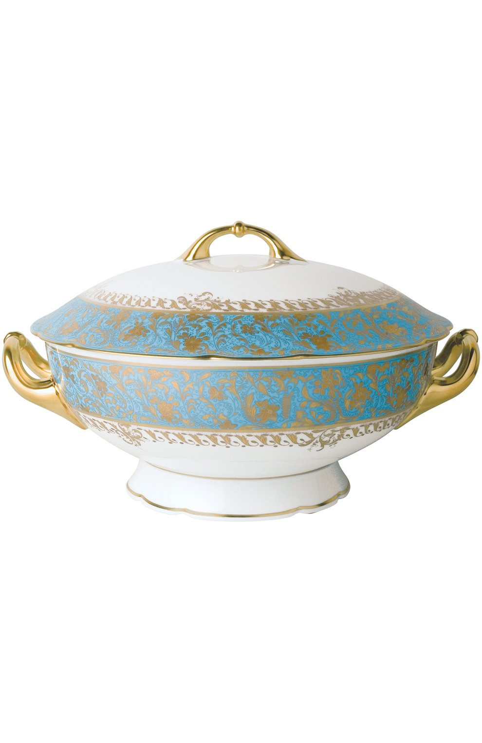 Мужского супница eden turquoise BERNARDAUD голубого цвета, арт. 0144/147   Фото 1