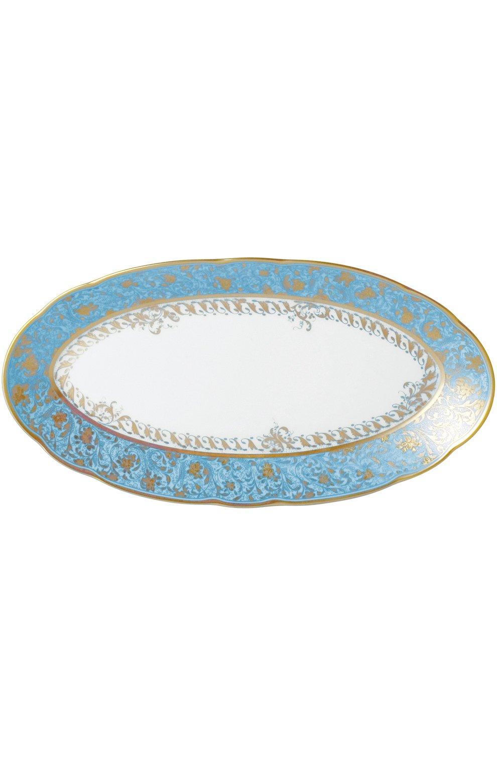 Блюдо овальное Eden Turquoise | Фото №1