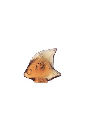 Мужского скульптура fish LALIQUE желтого цвета, арт. 3000700 | Фото 1