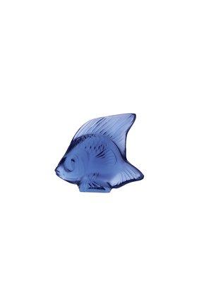 Мужского скульптура fish LALIQUE синего цвета, арт. 3000300 | Фото 1