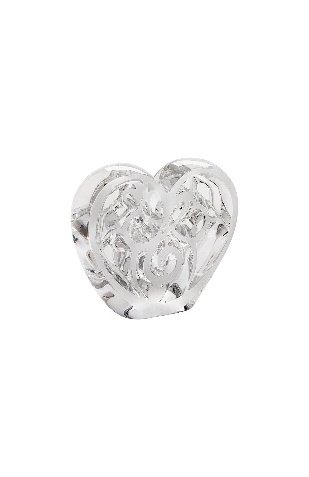Мужского скульптура heart music is love LALIQUE прозрачного цвета, арт. 10492200 | Фото 1