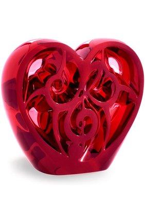 Мужского скульптура heart music is love LALIQUE красного цвета, арт. 10492300 | Фото 1