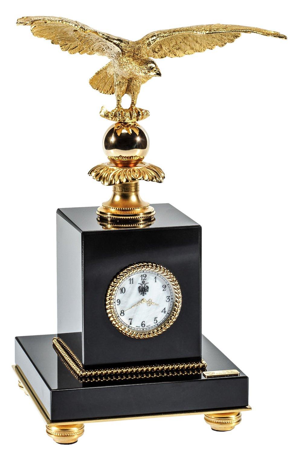 Мужского часы настольные с орлом TSAR золотого цвета, арт. 527001 | Фото 1