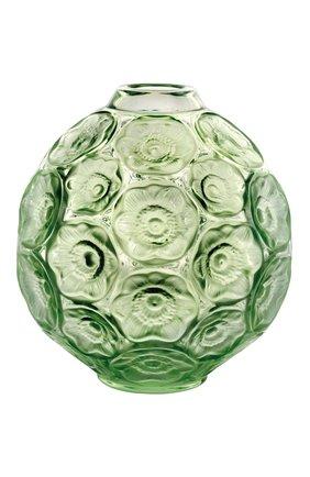 Мужского ваза anemones LALIQUE зеленого цвета, арт. 10519000 | Фото 1