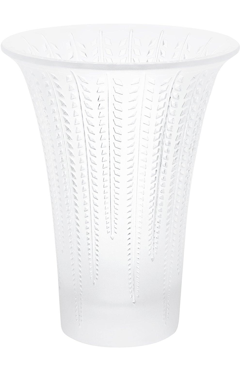 Мужского ваза glycines LALIQUE прозрачного цвета, арт. 10490100 | Фото 1