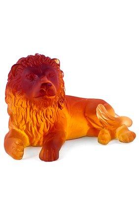 Мужского скульптура lion DAUM желтого цвета, арт. 03318-1 | Фото 1