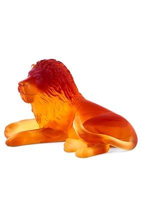 Мужского скульптура lion DAUM желтого цвета, арт. 03318-1 | Фото 2