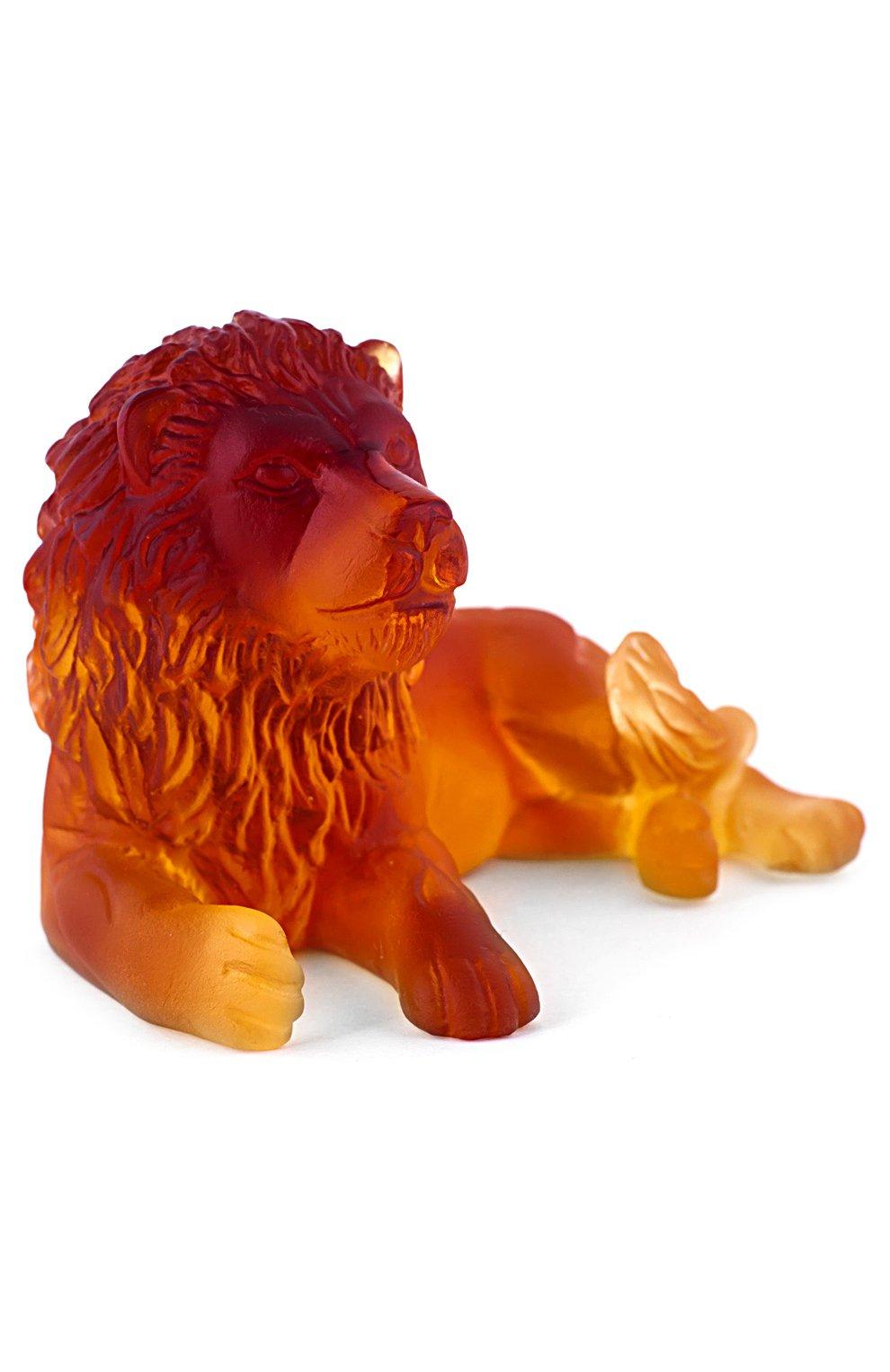 Мужского скульптура lion DAUM желтого цвета, арт. 03318-1 | Фото 3