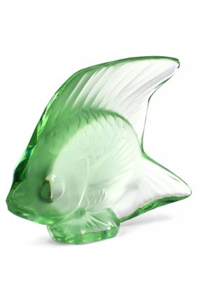 Мужского скульптура fish LALIQUE зеленого цвета, арт. 3001100 | Фото 2