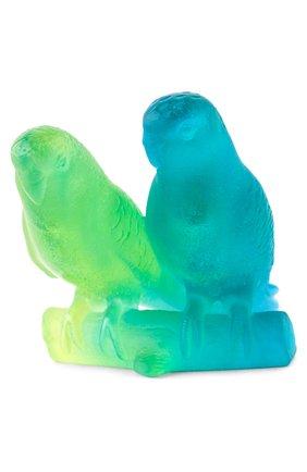 Мужского скульптура budgerigars couple DAUM разноцветного цвета, арт. 02681 | Фото 2
