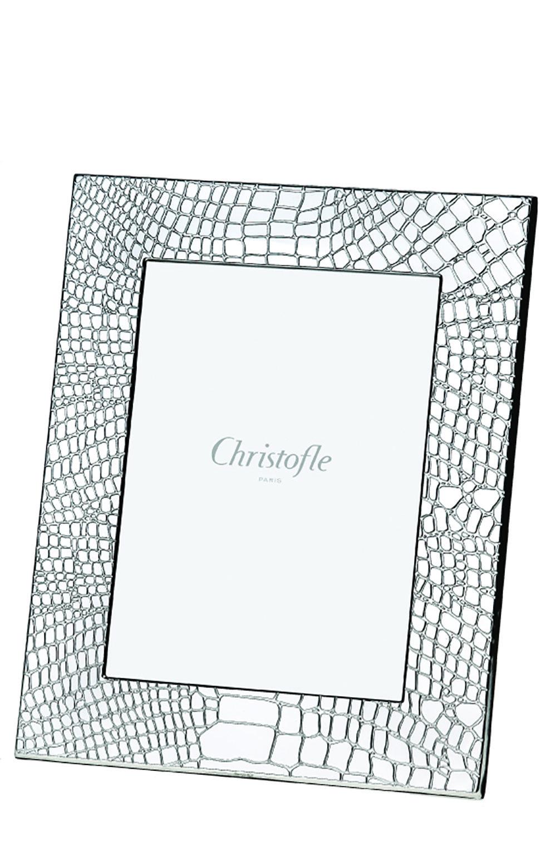 Мужского рамка для фотографии croco d'argent CHRISTOFLE серебряного цвета, арт. 04256156 | Фото 1