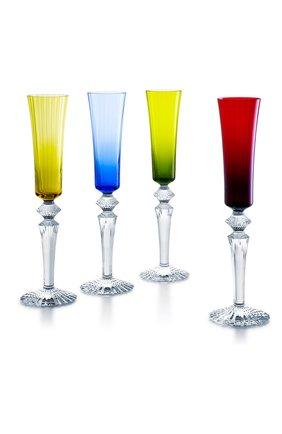 Мужского набор из 4-х фужеров для шампанского mille nuits BACCARAT разноцветного цвета, арт. 2 810 814 | Фото 1