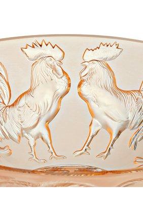 Мужского ваза для фруктов rooster LALIQUE золотого цвета, арт. 10548400 | Фото 2
