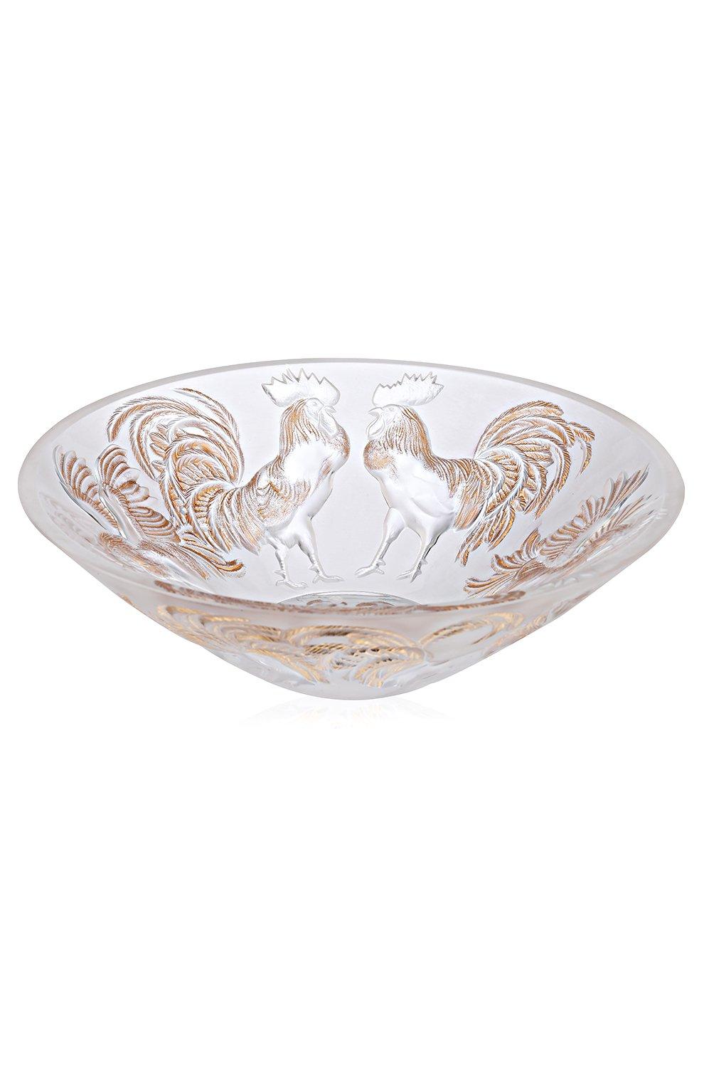 Мужского ваза для фруктов rooster LALIQUE золотого цвета, арт. 10548500 | Фото 1