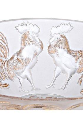 Мужского ваза для фруктов rooster LALIQUE золотого цвета, арт. 10548500 | Фото 2