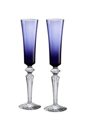 Мужского набор из 2-х фужеров для шампанского midnight BACCARAT синего цвета, арт. 2 811 226 | Фото 1