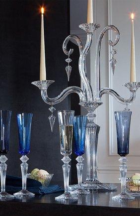 Мужского набор из 2-х фужеров для шампанского mille nuits BACCARAT темно-синего цвета, арт. 2 811 226   Фото 2