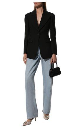 Женская текстильные туфли rainbow lace DOLCE & GABBANA белого цвета, арт. CD0066/AL198 | Фото 2