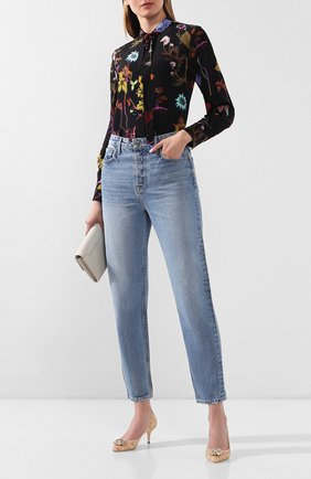 Женская текстильные туфли rainbow lace DOLCE & GABBANA светло-бежевого цвета, арт. CD0066/AL198 | Фото 2