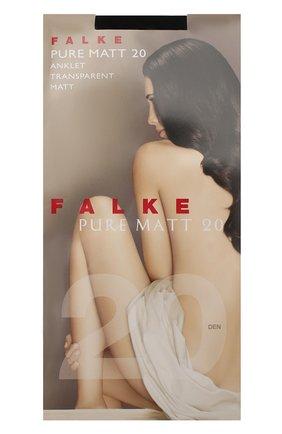 Женские капроновые носки pure matt FALKE черного цвета, арт. 41312_ | Фото 1