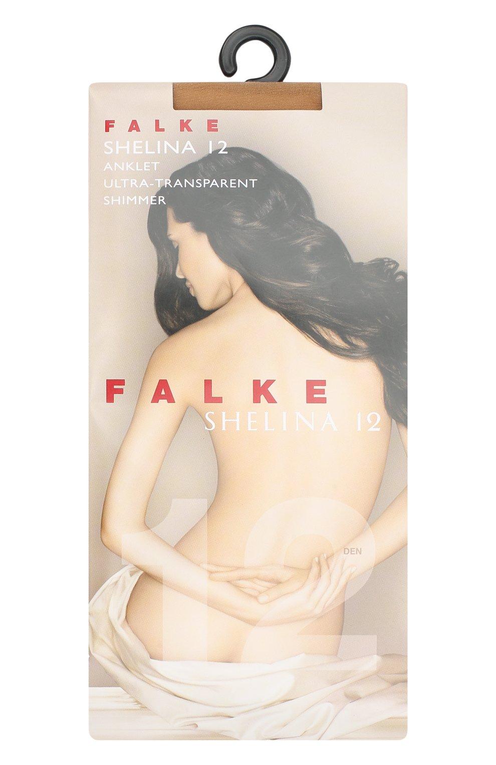 Женские капроновые носки shelina FALKE темно-бежевого цвета, арт. 41326_ | Фото 1
