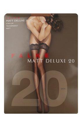 Женские капроновые чулки matt deluxe FALKE темно-бежевого цвета, арт. 41520_ | Фото 1