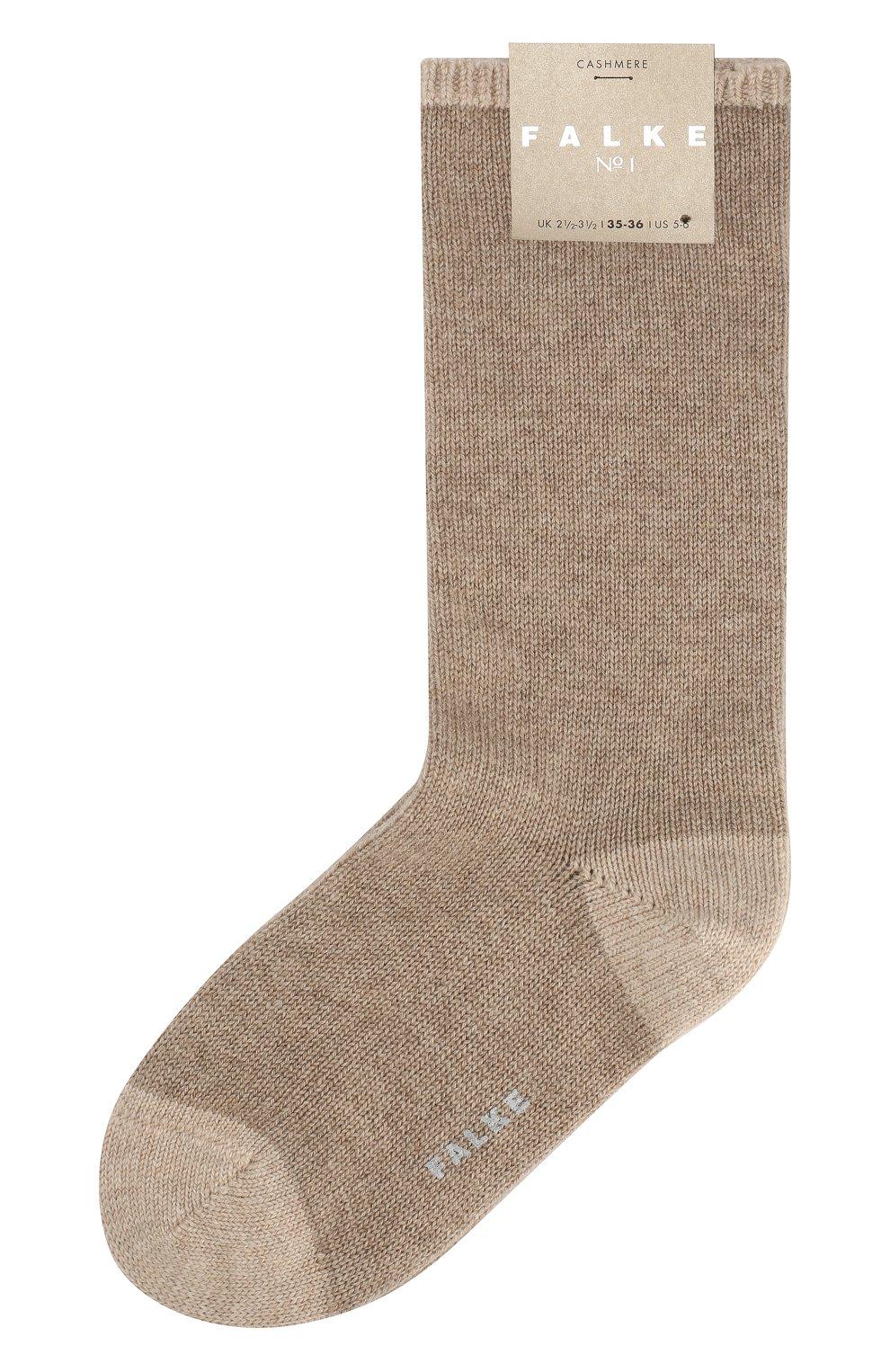 Женские кашемировые носки №1 FALKE бежевого цвета, арт. 46592_ | Фото 1