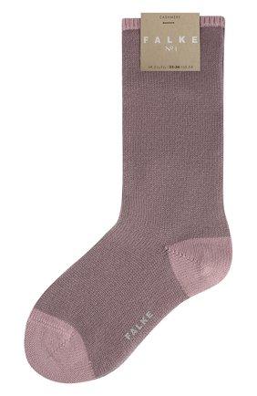 Женские кашемировые носки №1 FALKE сиреневого цвета, арт. 46592_ | Фото 1