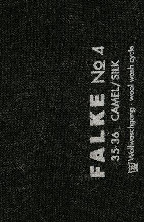 Женские носки no. 4 finest camel & silk FALKE темно-серого цвета, арт. 46583_ | Фото 2