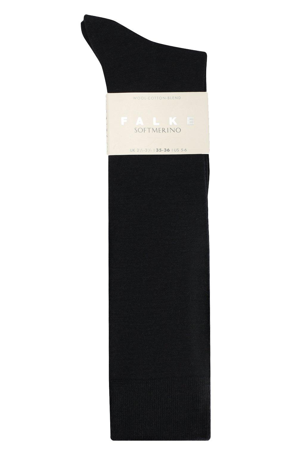 Женские гольфы softmerino из смеси шерсти и хлопка FALKE черного цвета, арт. 47438_ | Фото 3
