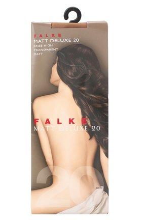Женские капроновые гольфы matt deluxe FALKE темно-бежевого цвета, арт. 41720_ | Фото 1