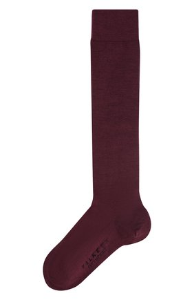 Женские гольфы softmerino из смеси шерсти и хлопка FALKE бордового цвета, арт. 47438_18_ | Фото 1