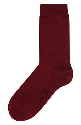 Женские носки softmerino из смеси шерсти и хлопка FALKE бордового цвета, арт. 47488_ | Фото 1