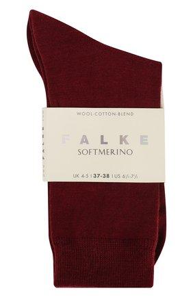 Женские носки softmerino из смеси шерсти и хлопка FALKE бордового цвета, арт. 47488_ | Фото 2