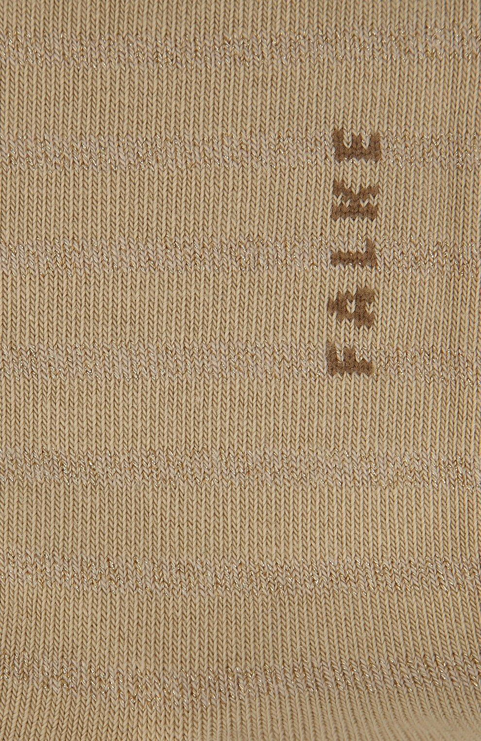 Женские хлопковые носки nautical sn FALKE бежевого цвета, арт. 46285_ | Фото 2