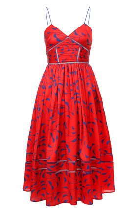 Платье с принтом на бретельках | Фото №1