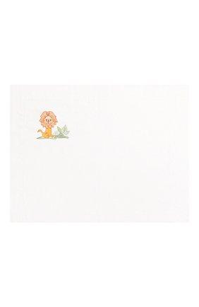 Детского комплект из хлопковой простыни и наволочки LORETTA CAPONI белого цвета, арт. 182K20238300701 | Фото 2