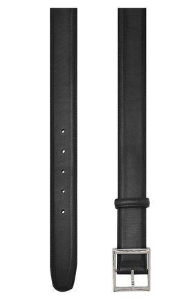 Мужской кожаный ремень с металлической пряжкой BERLUTI черного цвета, арт. C0002-006 | Фото 2