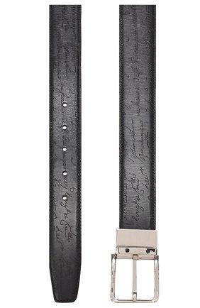 Мужской кожаный ремень BERLUTI темно-синего цвета, арт. C0028-005   Фото 2