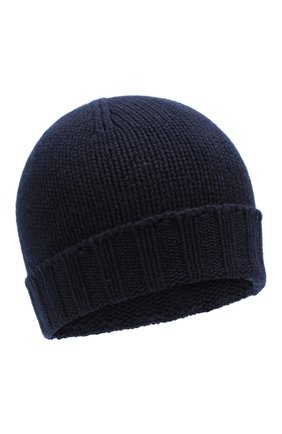Мужская кашемировая шапка ANDREA CAMPAGNA темно-синего цвета, арт. 10186/15529 | Фото 1
