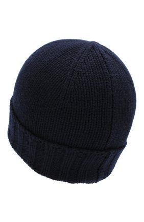 Мужская кашемировая шапка ANDREA CAMPAGNA темно-синего цвета, арт. 10186/15529 | Фото 2