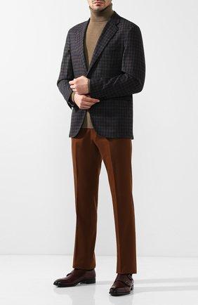 Мужской пиджак из смеси шерсти и кашемира LORO PIANA коричневого цвета, арт. FAI2615 | Фото 2