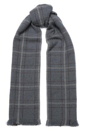 Мужской шарф из смеси кашемира и шелка LORO PIANA серого цвета, арт. FAI2437 | Фото 1