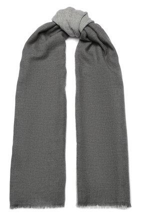 Мужской шарф из смеси кашемира и шелка LORO PIANA светло-серого цвета, арт. FAI2183 | Фото 1