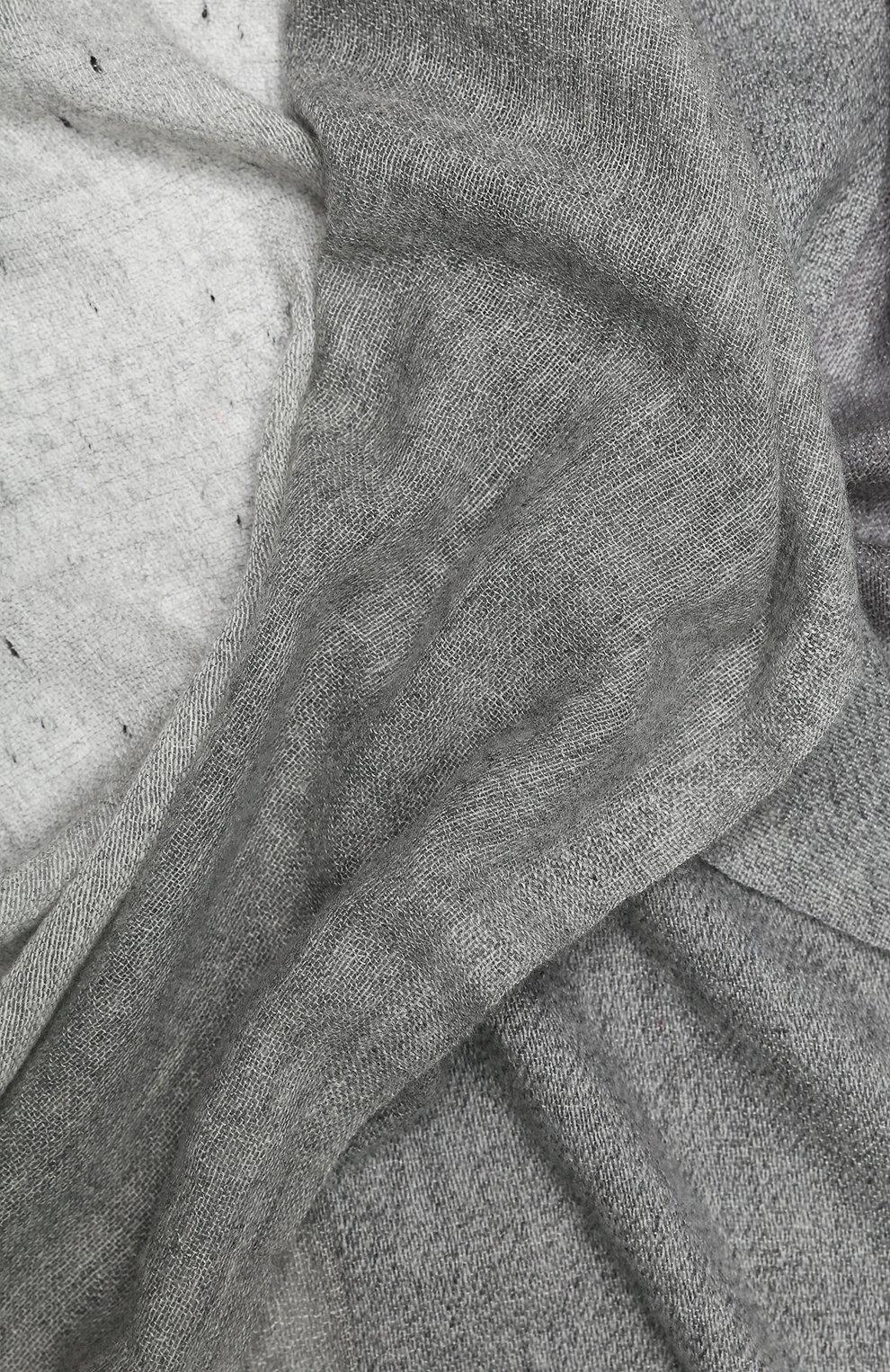Мужской шарф из смеси кашемира и шелка LORO PIANA светло-серого цвета, арт. FAI2183 | Фото 2