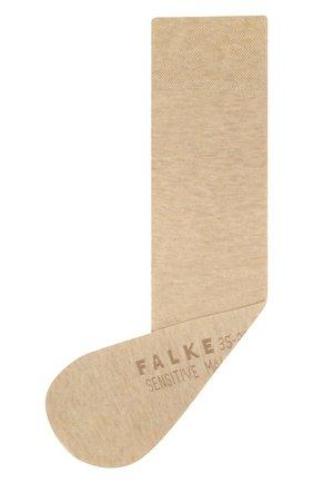 Женские хлопковые носки sensitive malaga FALKE бежевого цвета, арт. 47676_ | Фото 1
