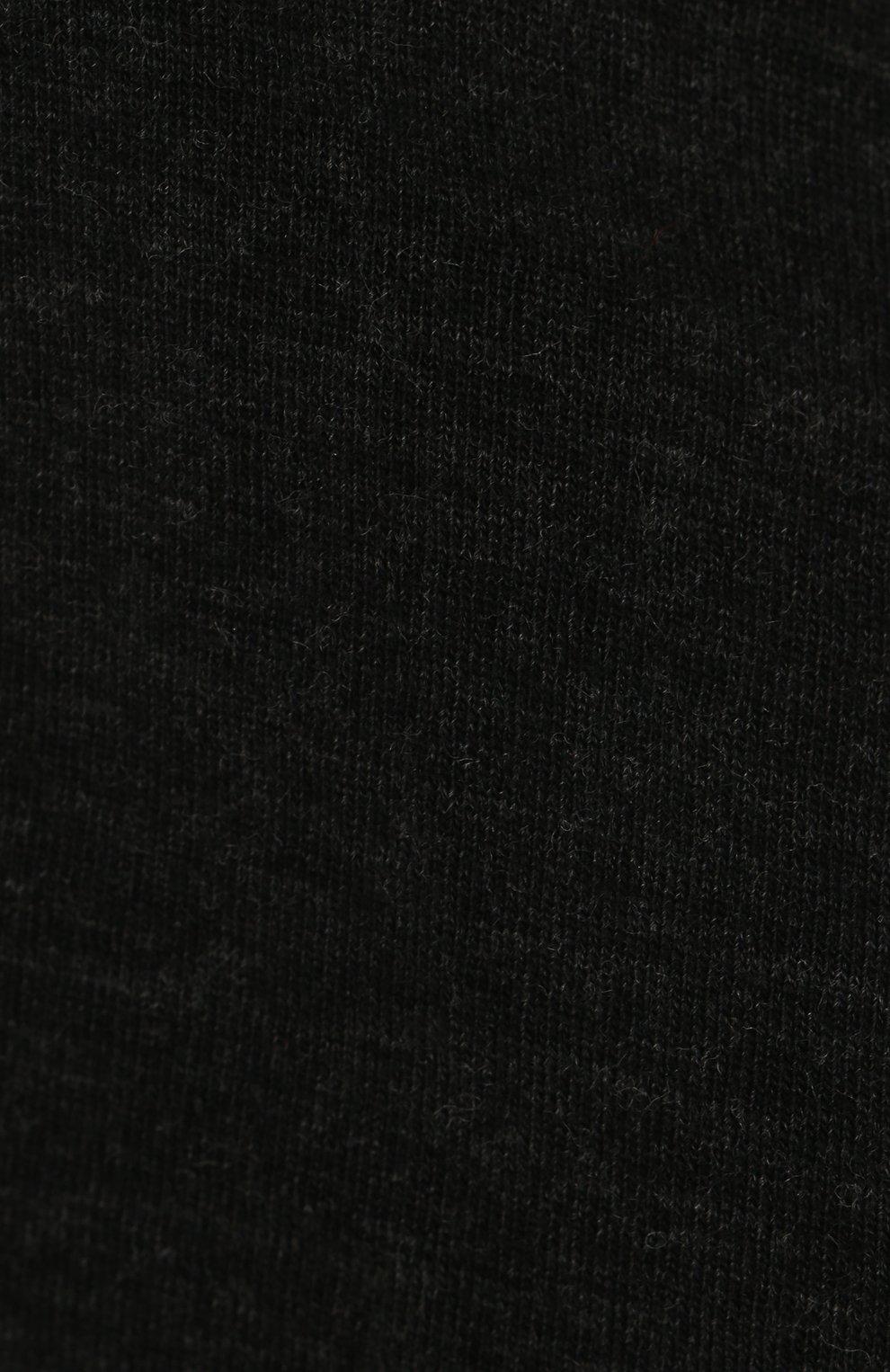 Колготки Softmerino из смеси шерсти и хлопка Falke темно-серые | Фото №3