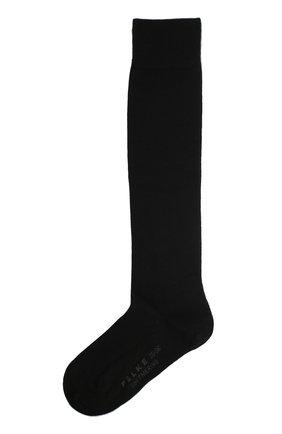 Женские гольфы softmerino из смеси шерсти и хлопка FALKE черного цвета, арт. 47438_ | Фото 1