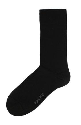 Женские носки sensual cashmere из смеси хлопка и кашемира FALKE черного цвета, арт. 46156_ | Фото 1